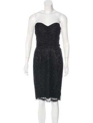 Dolce & Gabbana Strapless Lace Dress None