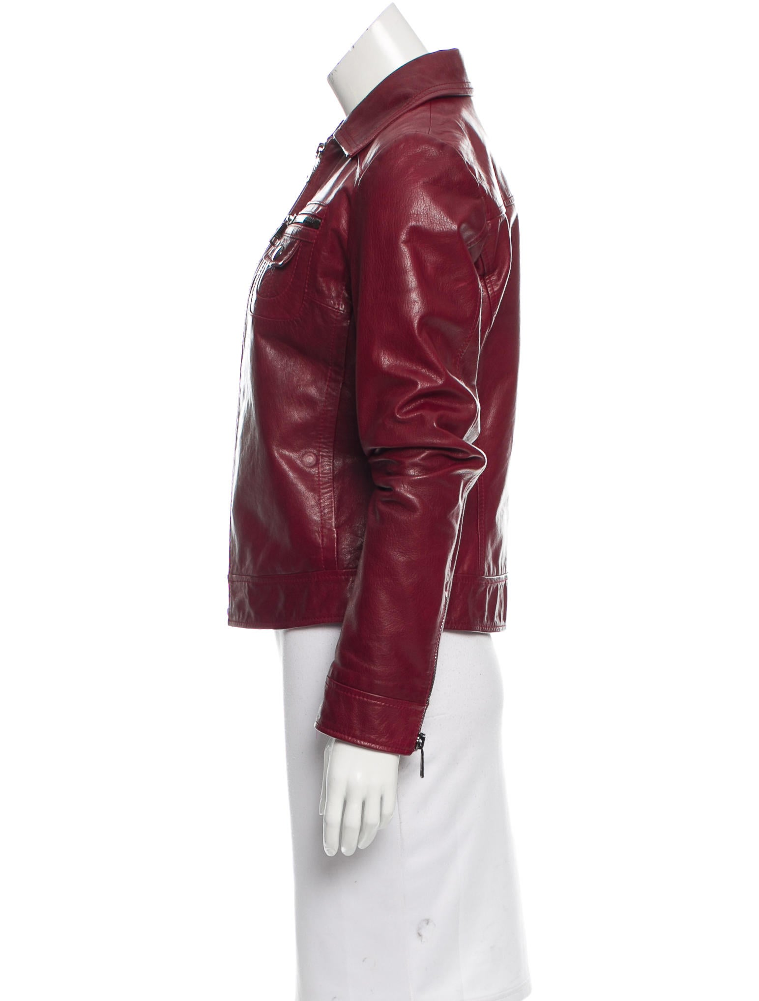 Dolce gabbana fitted leather jacket clothing for Leather jacket and shirt