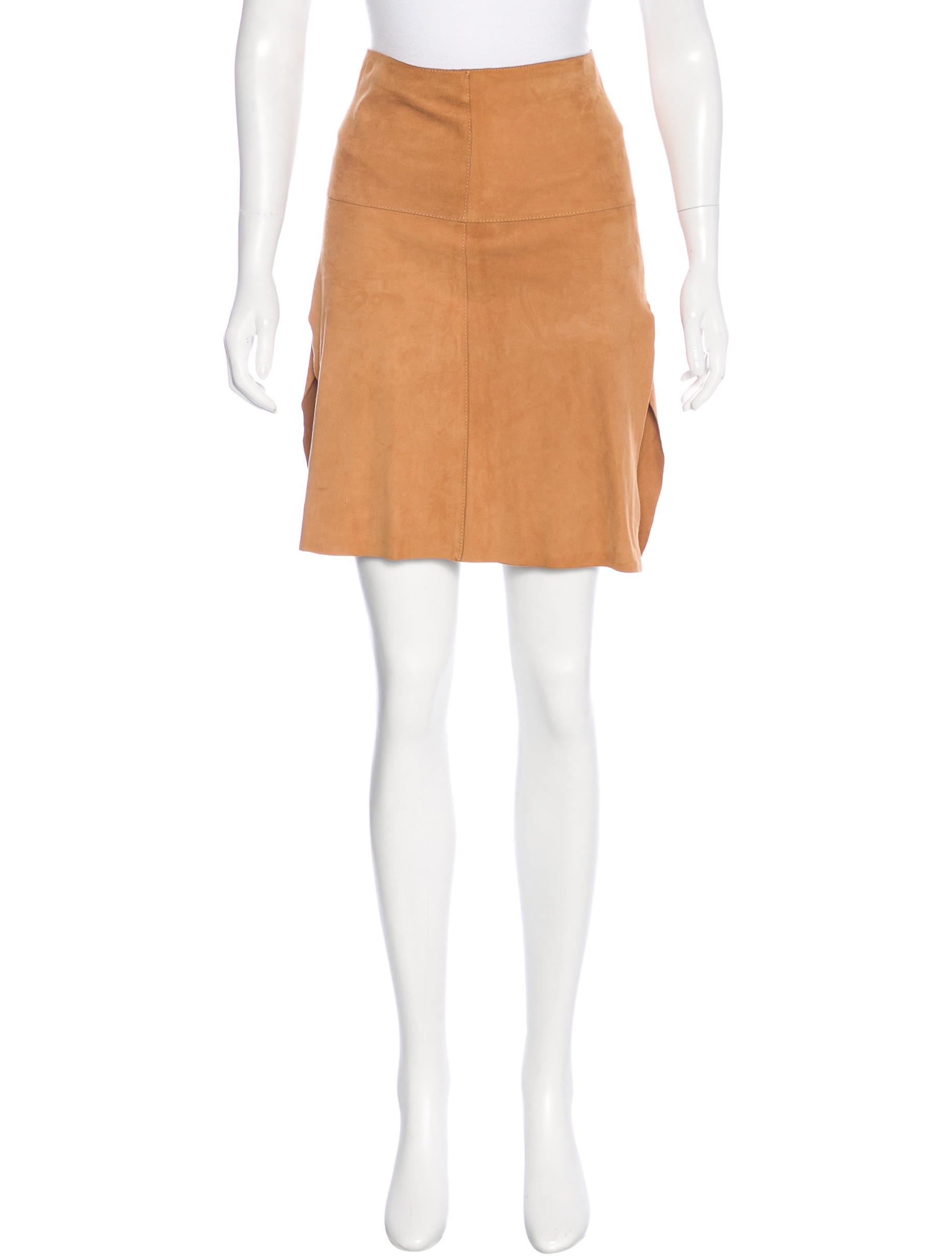 dolce gabbana suede a line skirt clothing dag76715