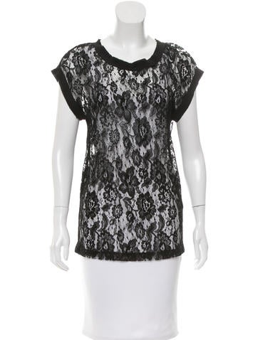 Dolce & Gabbana Cap Sleeve Lace Top None