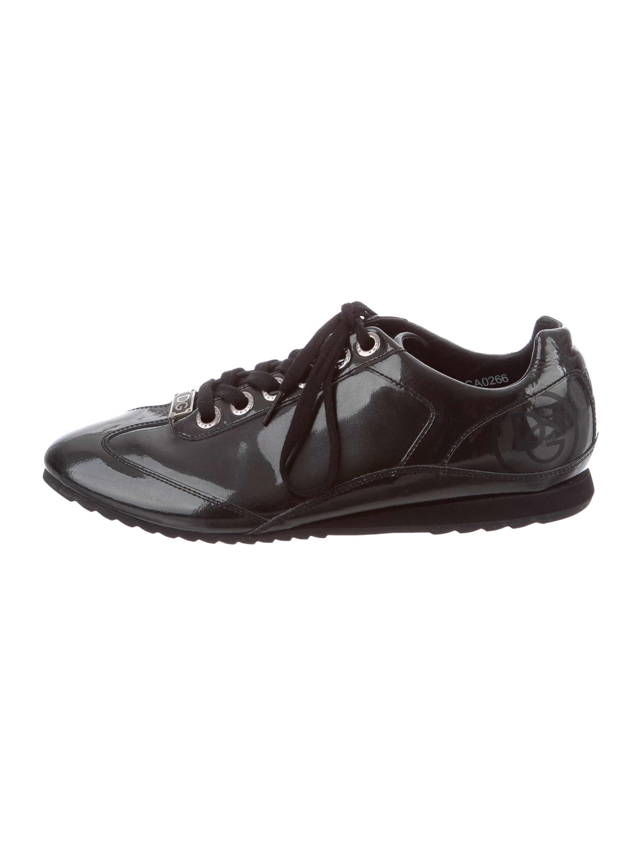 dolce gabbana logo patent leather sneakers shoes. Black Bedroom Furniture Sets. Home Design Ideas