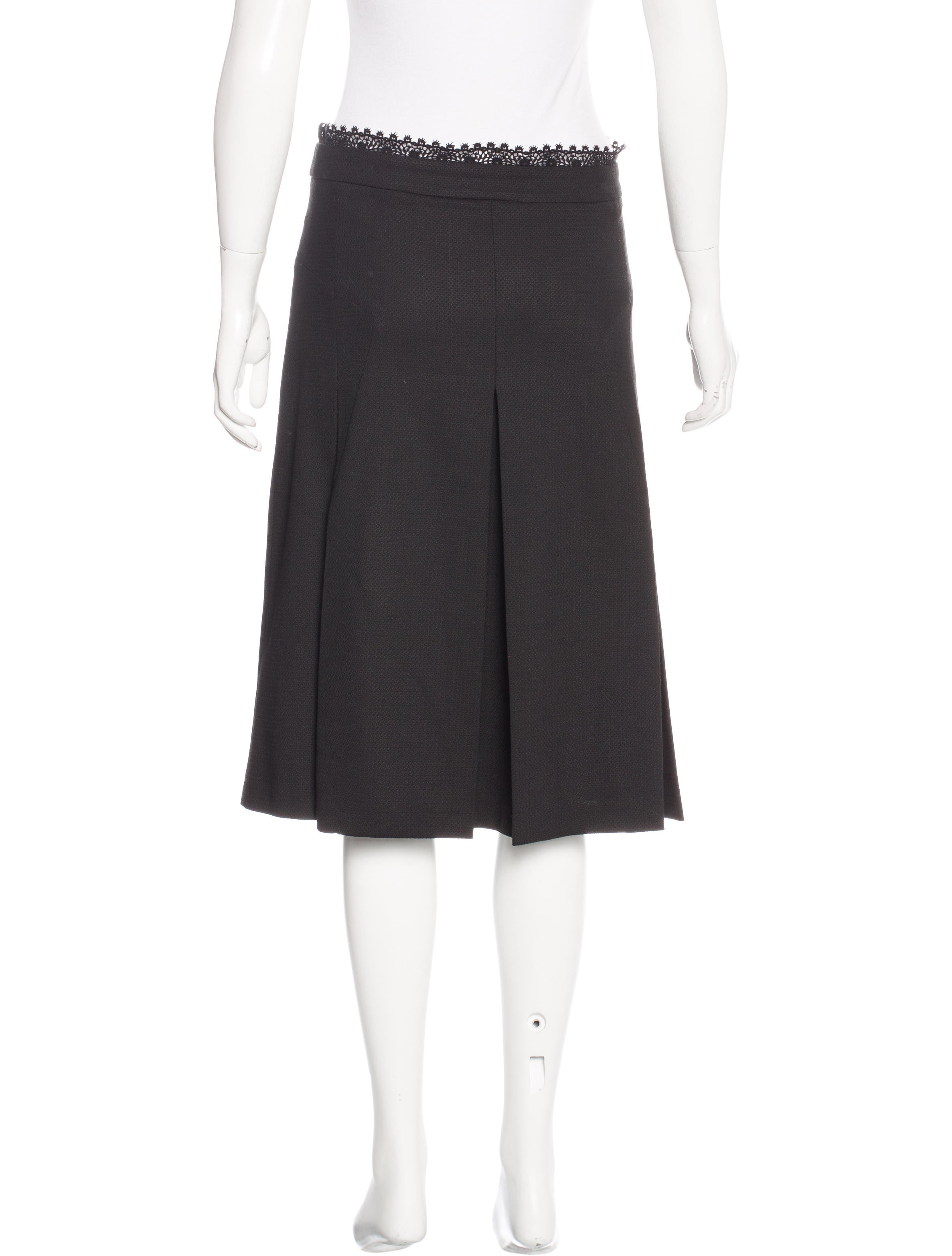 dolce gabbana lace trimmed pleated skirt clothing