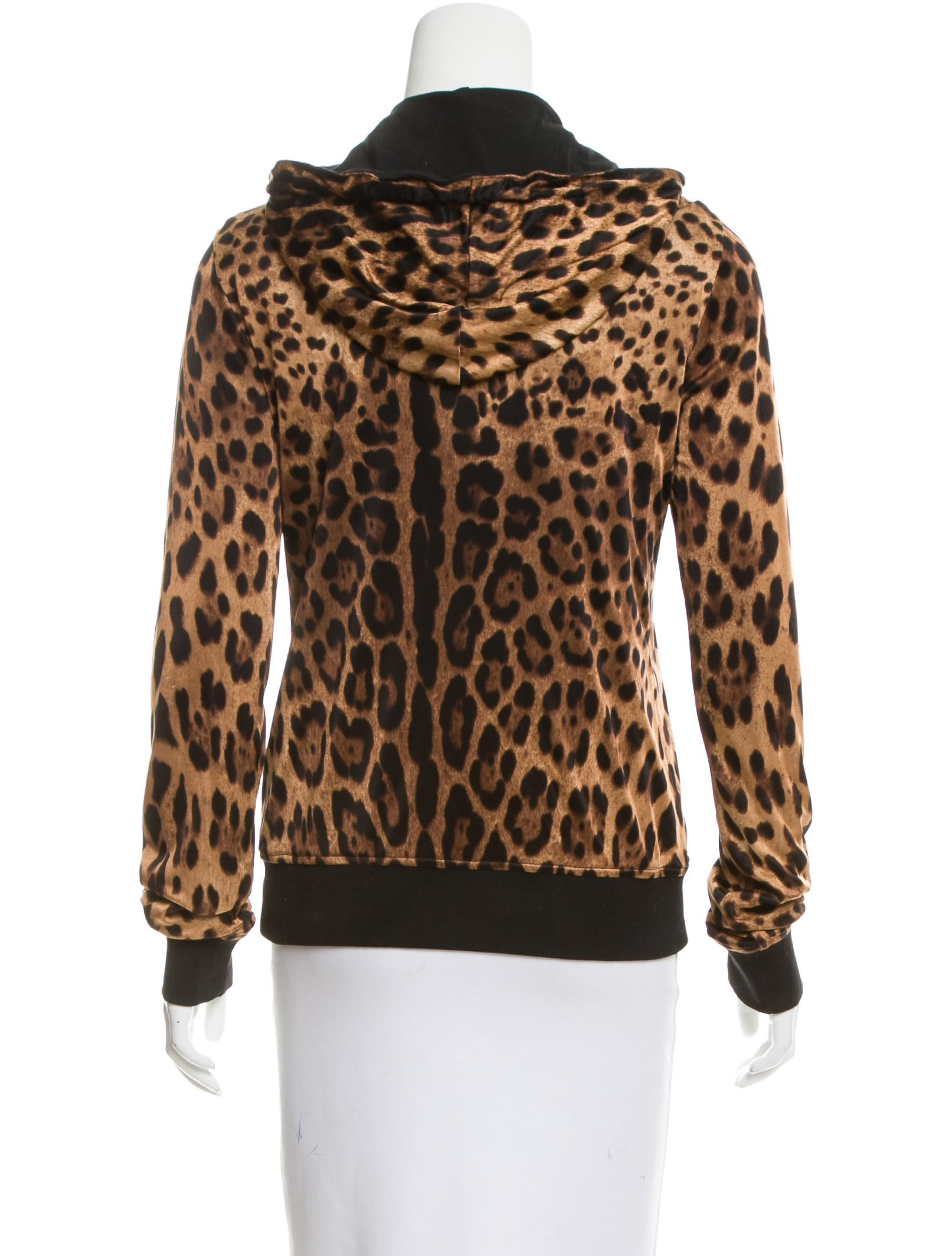 Dolce Amp Gabbana Hooded Leopard Print Jacket Clothing