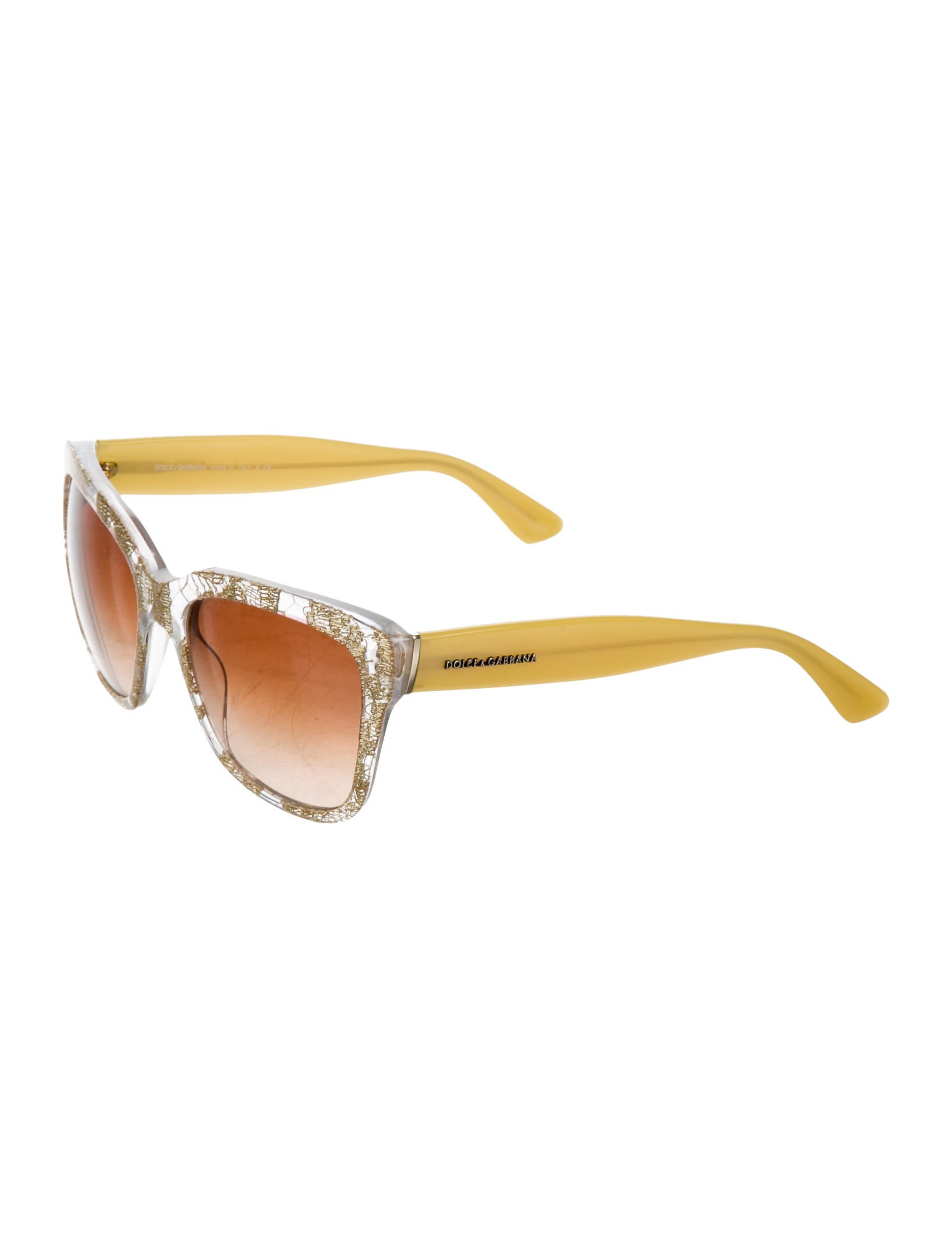 Dolce & Gabbana Lace Clear Sunglasses - Accessories ...