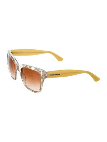 Dolce And Gabbana Clear Frame Glasses : Dolce & Gabbana Lace Clear Sunglasses - Accessories ...