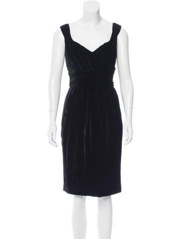 Dolce & Gabbana Sleeveless Velvet Dress None