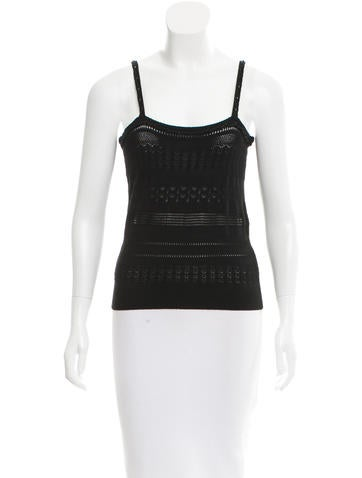 Dolce & Gabbana Sleeveless Pointelle Knit Top None