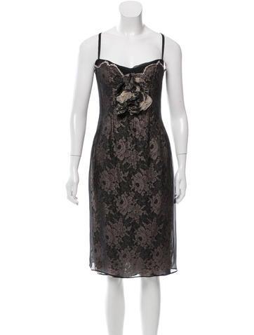 Dolce & Gabbana Lace Bustier Dress None