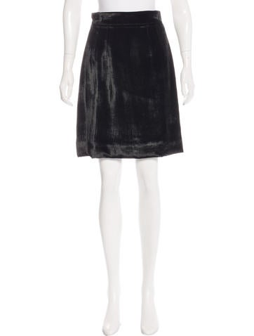 Dolce & Gabbana Velvet Knee-Length Skirt None