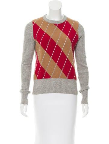 Dolce & Gabbana Argyle Wool Sweater None