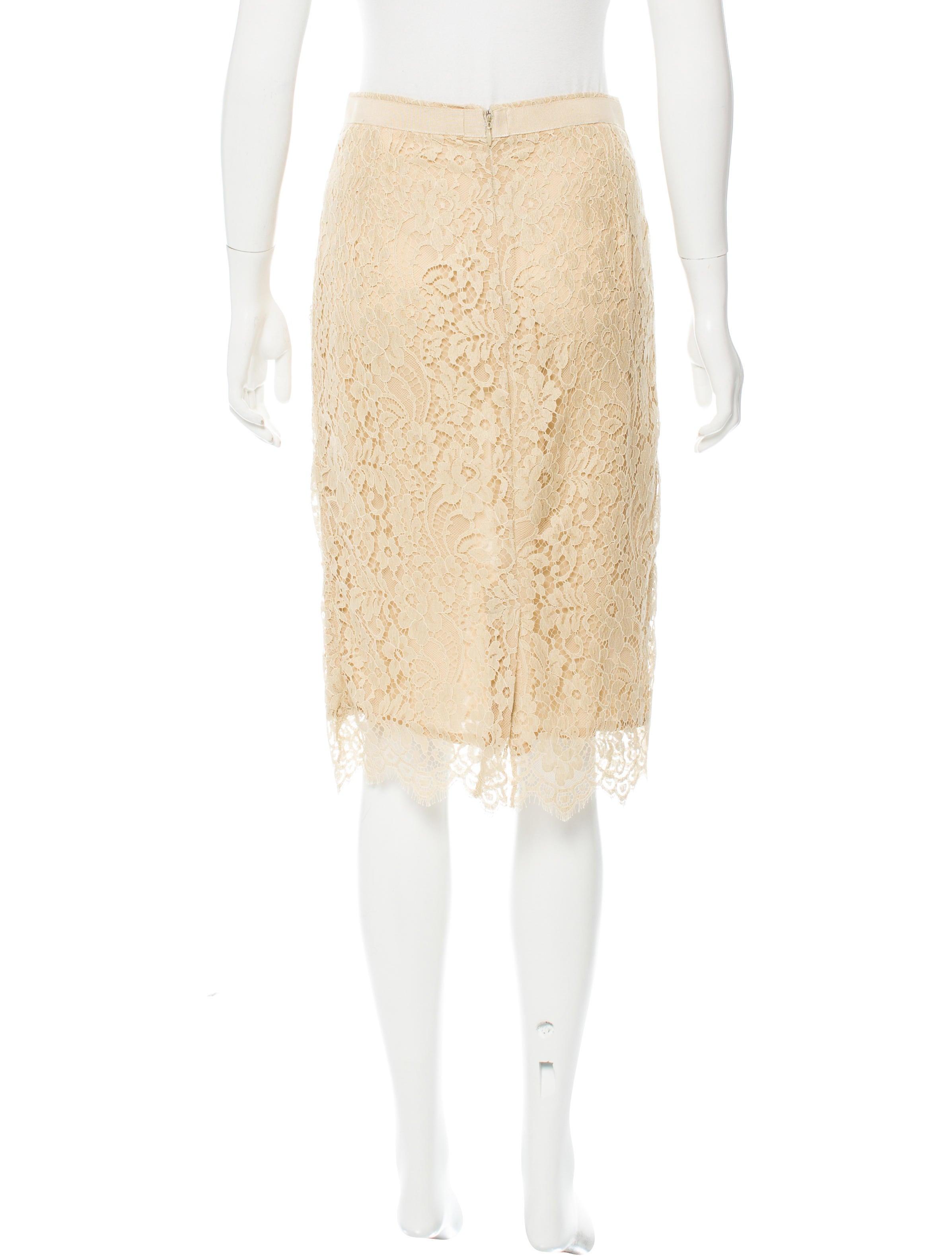 dolce gabbana lace knee length skirt clothing