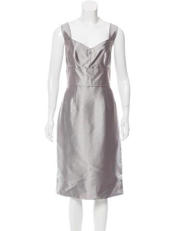 Dolce & Gabbana Satin Sheath Dress w/ Tags None