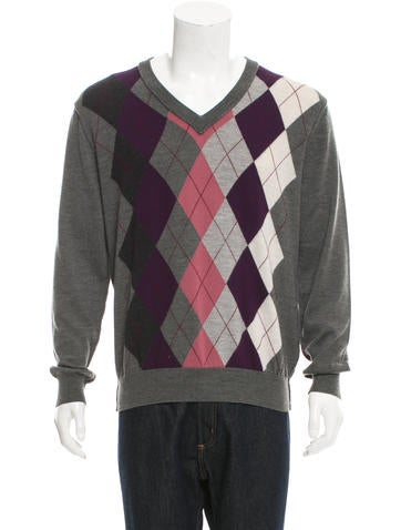 Dolce & Gabbana Virgin Wool Argyle Sweater None