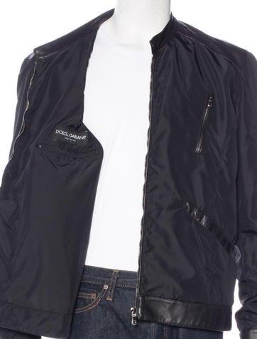 Leather jacket blowjob