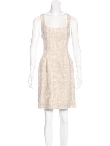 Dolce & Gabbana Virgin Wool Sheath Dress None