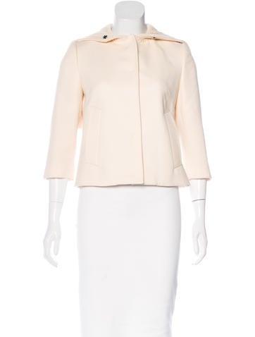 Dolce & Gabbana Rib-Knit Trimmed Wool Jacket None