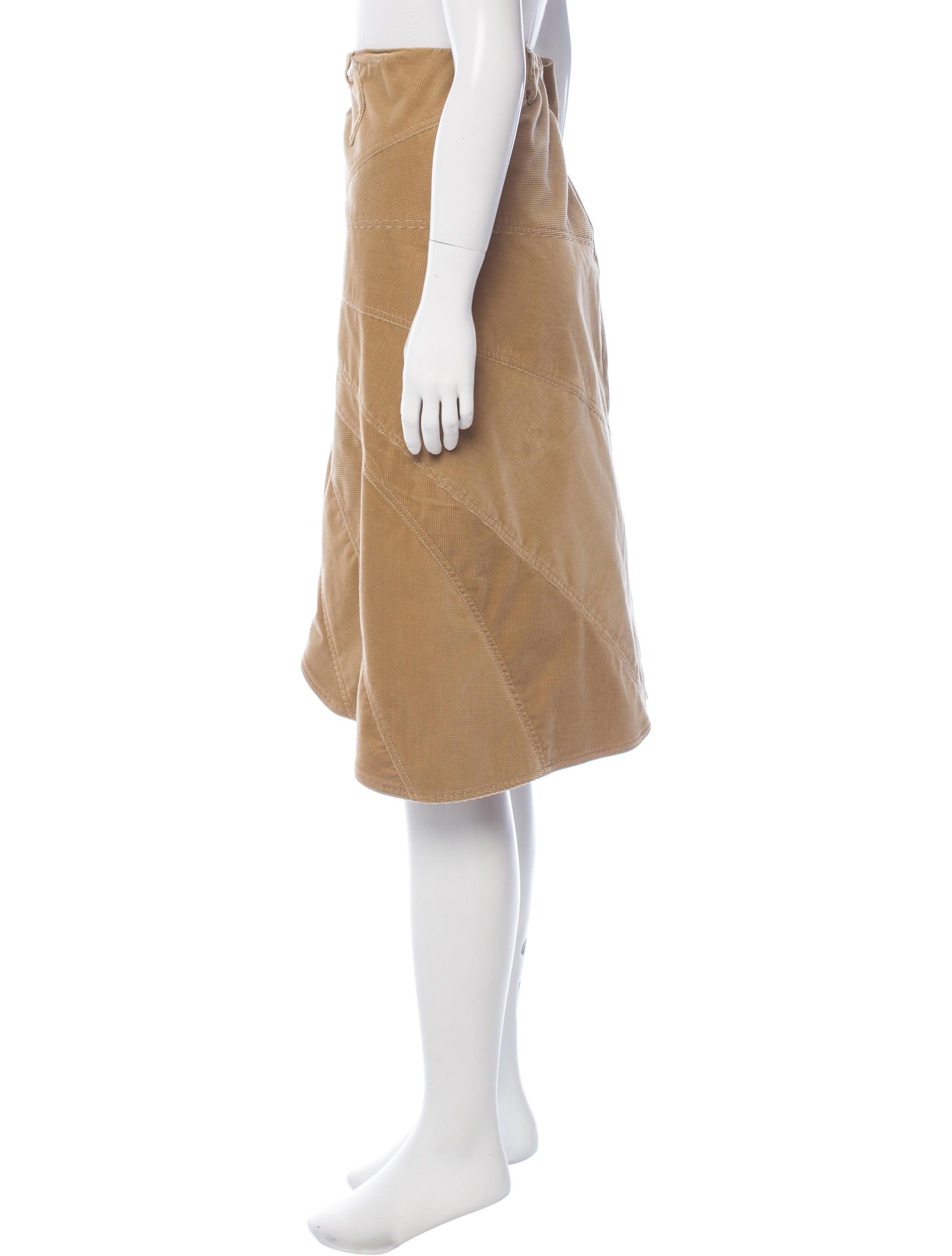 dolce gabbana corduroy knee length skirt clothing