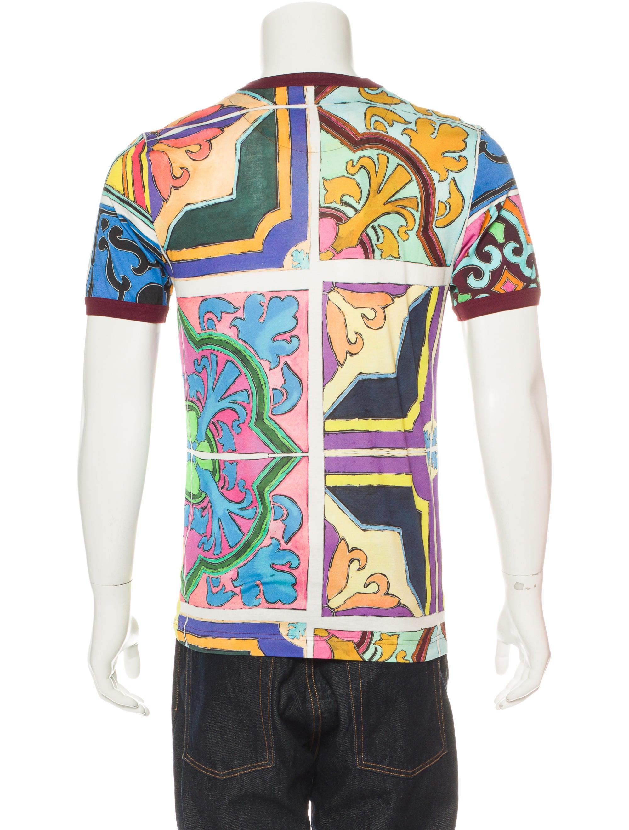 Dolce gabbana abstract print t shirt w tags clothing for Dolce and gabbana printed t shirts
