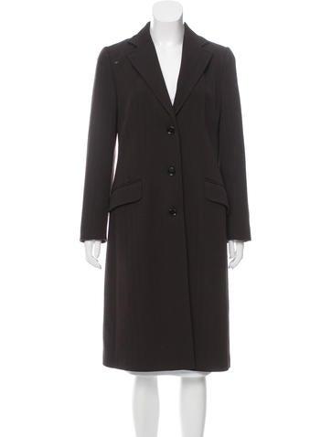 Dolce & Gabbana Wool Herringbone Coat None
