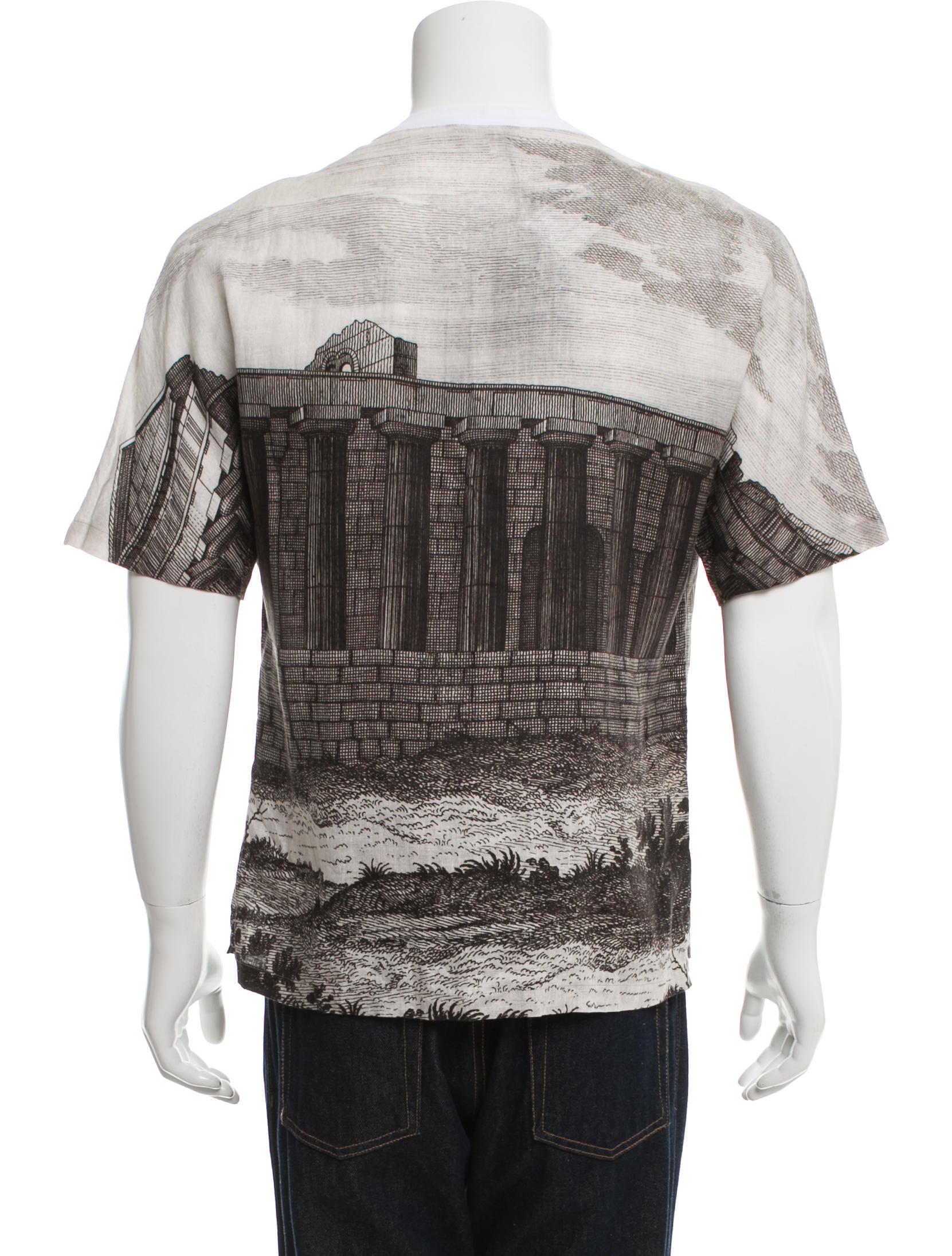 Dolce gabbana printed henley t shirt w tags clothing for Dolce and gabbana printed t shirts