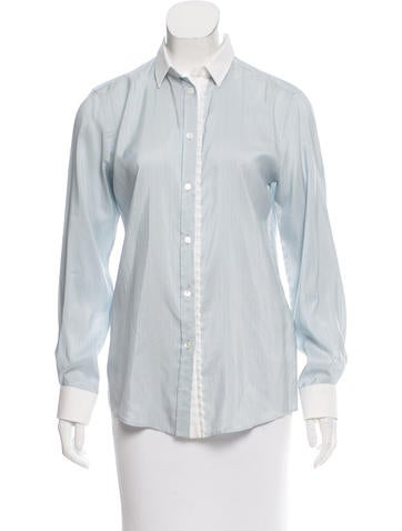 Dolce & Gabbana Silk Button-Up Top w/ Tags None