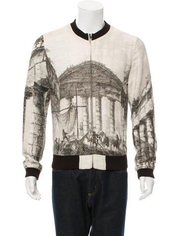 Dolce & Gabbana Greece Print Bomber Jacket None