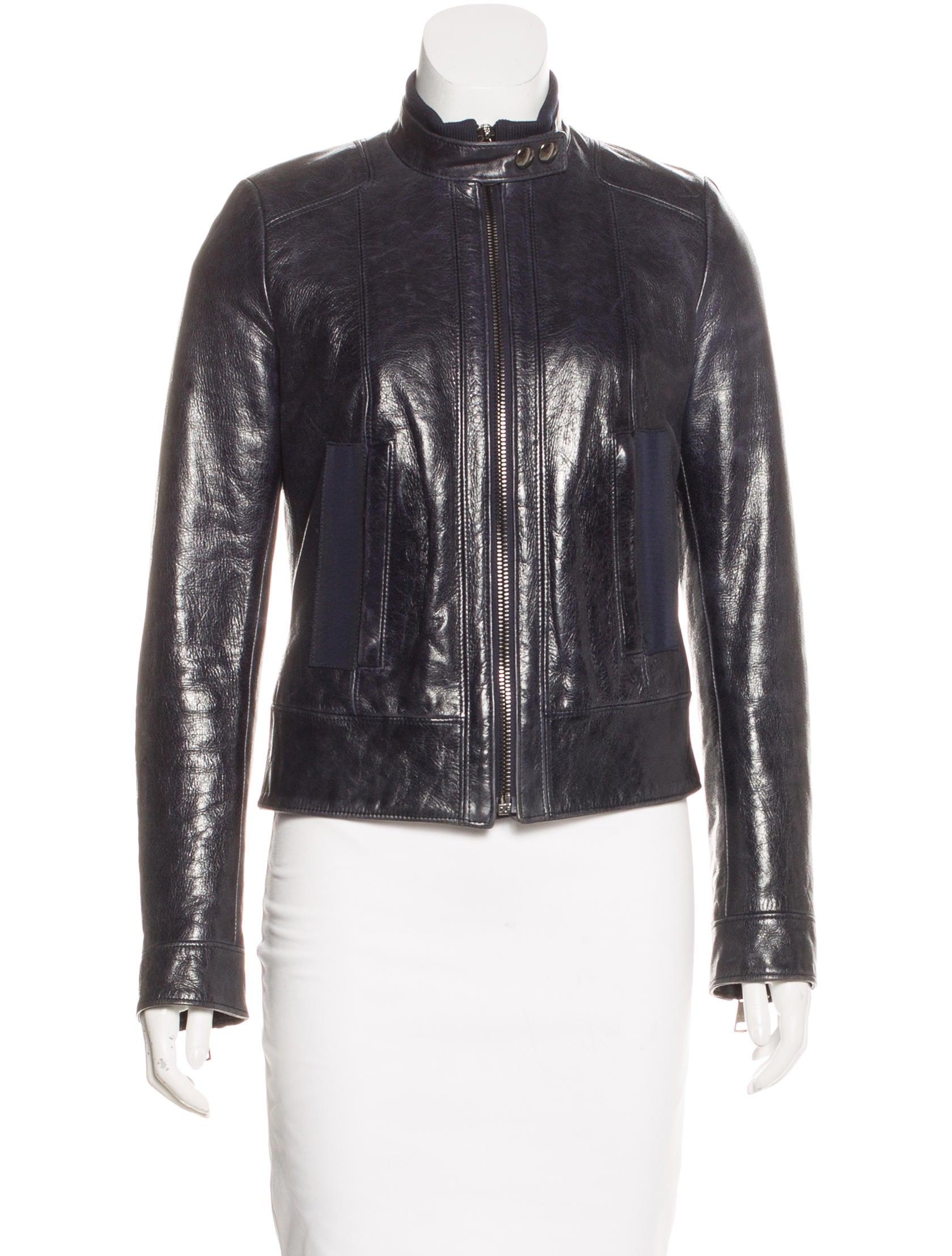 dolce gabbana leather grosgrain trimmed jacket jackets dag79556 the realreal. Black Bedroom Furniture Sets. Home Design Ideas