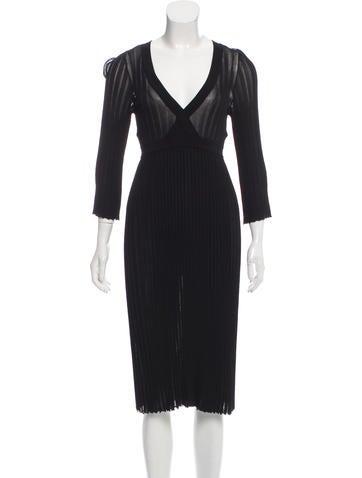 Dolce & Gabbana Pleated Midi Dress None