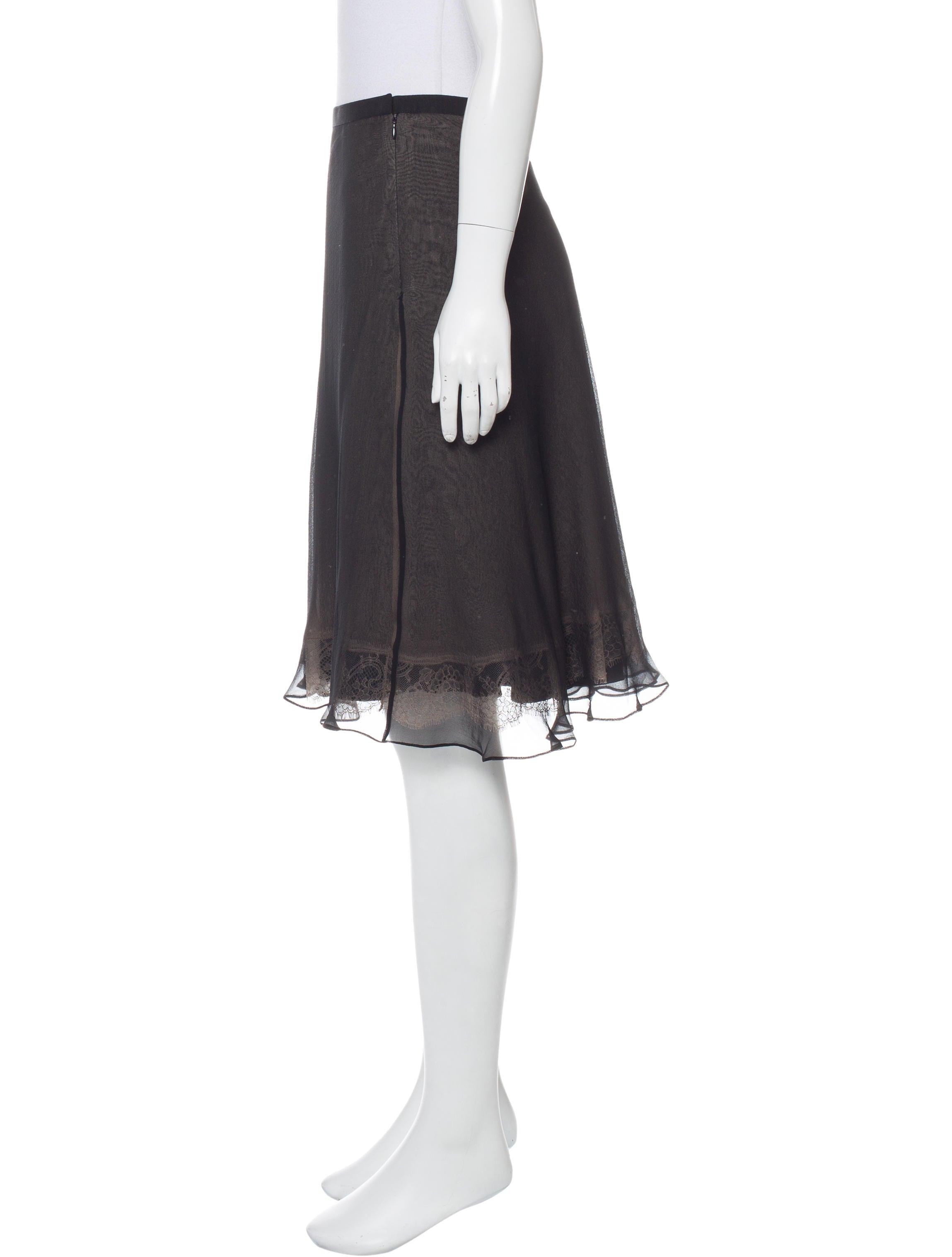 dolce gabbana silk a line skirt skirts dag79635