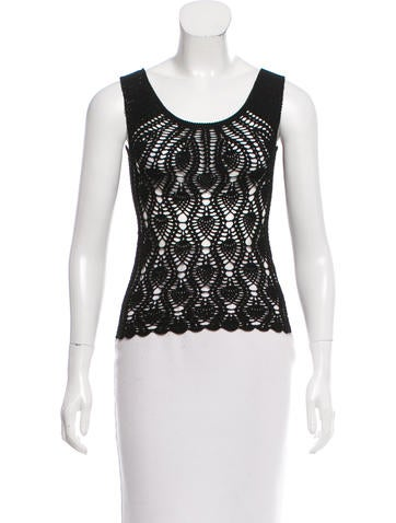 Dolce & Gabbana Crochet Sleeveless Top None