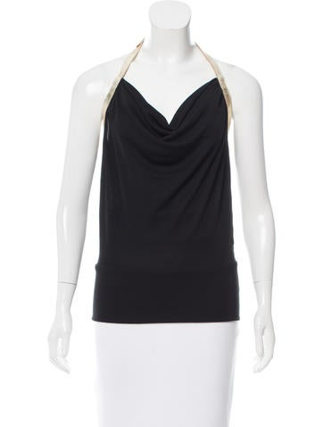 Dolce & Gabbana Draped Belted Top None