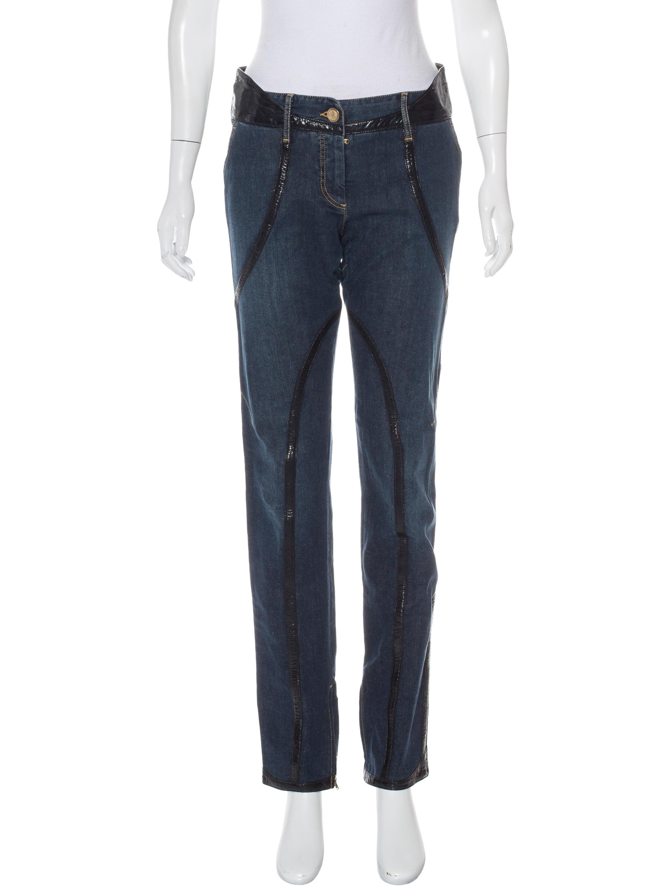dolce gabbana embellished straight leg jeans clothing dag79721 the realreal. Black Bedroom Furniture Sets. Home Design Ideas
