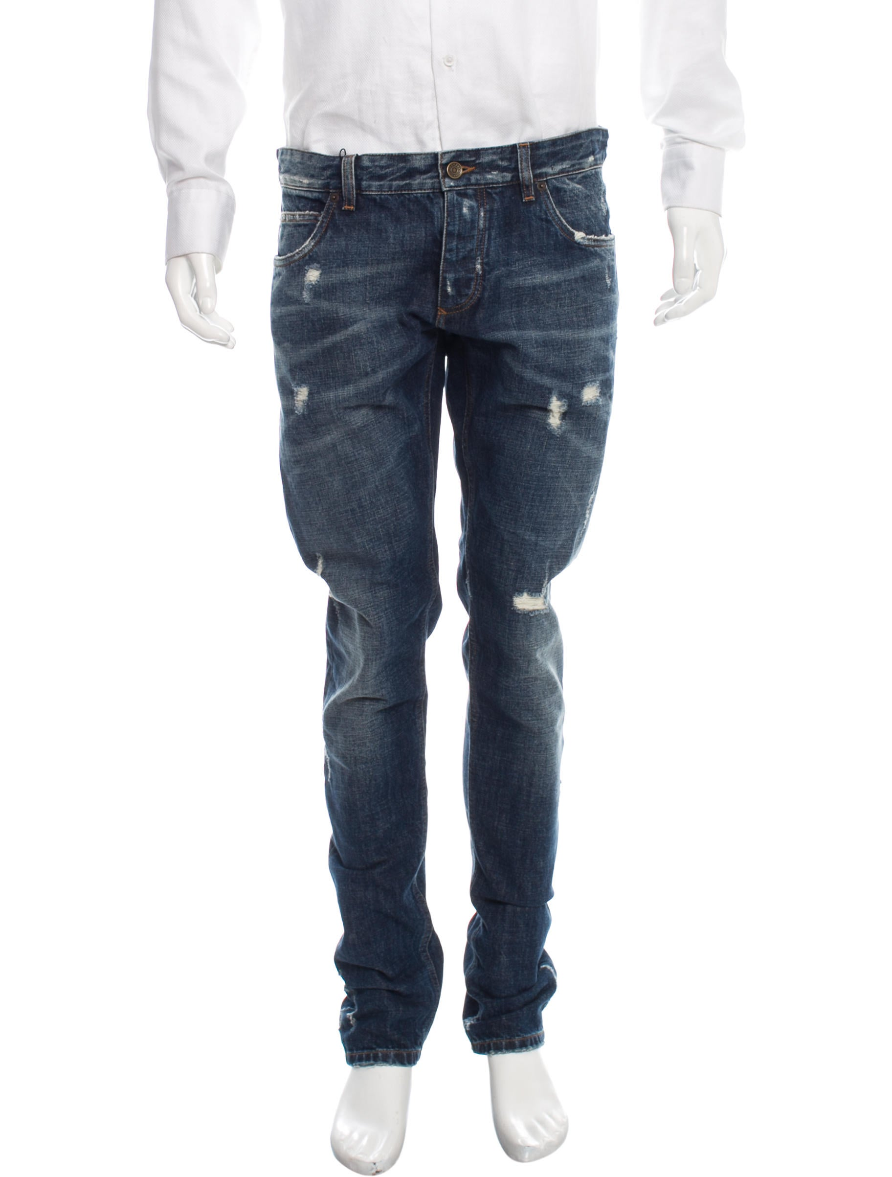 dolce gabbana distressed skinny jeans w tags clothing. Black Bedroom Furniture Sets. Home Design Ideas