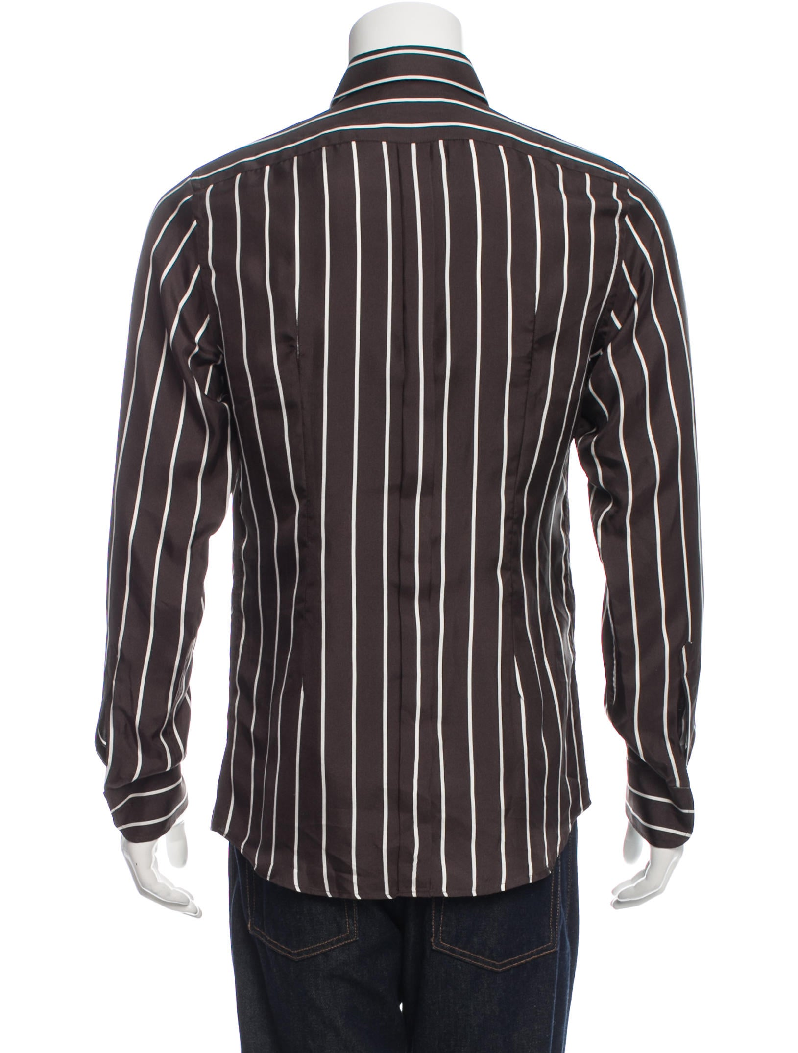 dolce gabbana striped button up shirt clothing