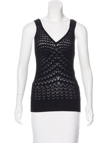 Dolce & Gabbana Sleeveless Open Knit Top None