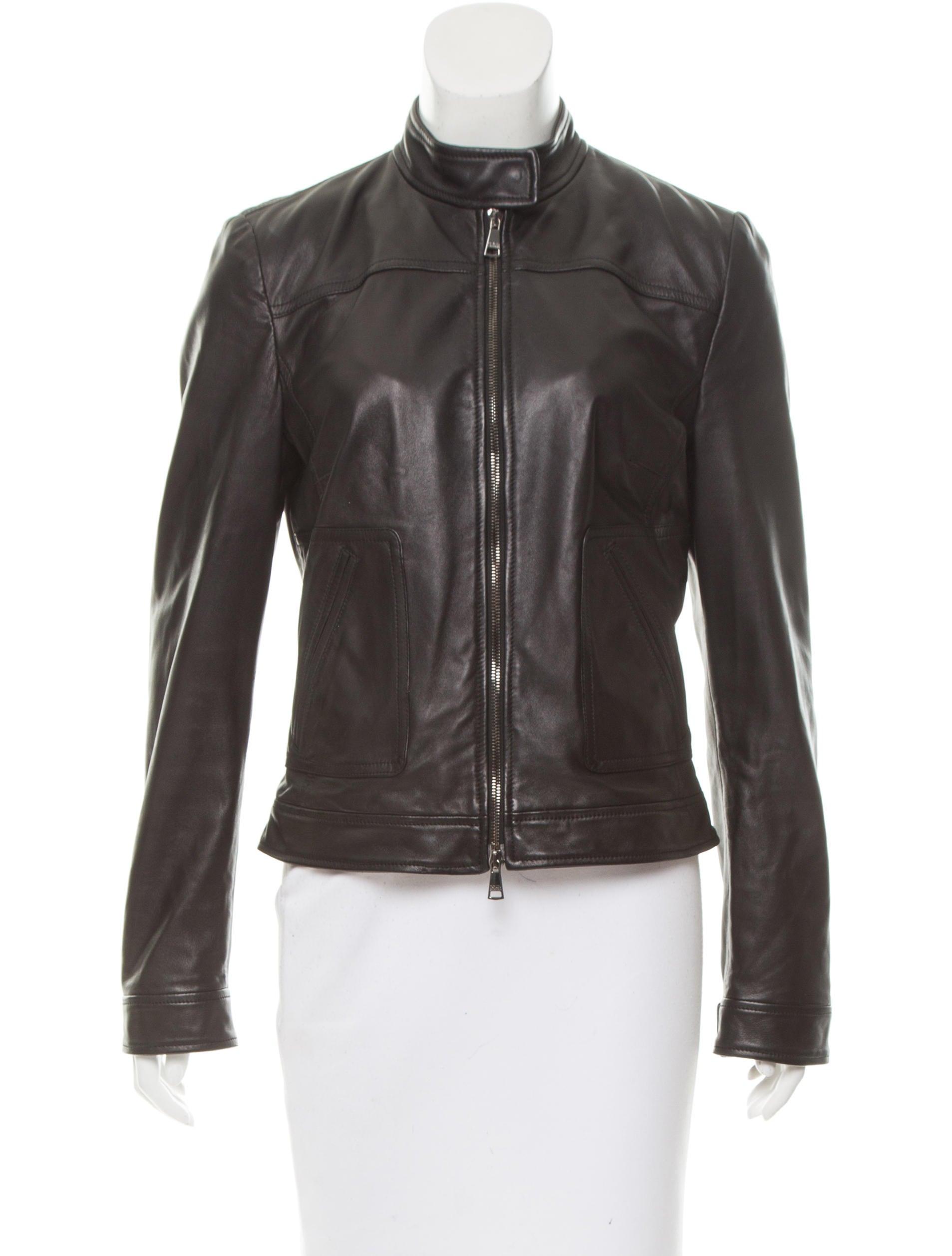 dolce gabbana leather biker jacket clothing dag79994 the realreal. Black Bedroom Furniture Sets. Home Design Ideas