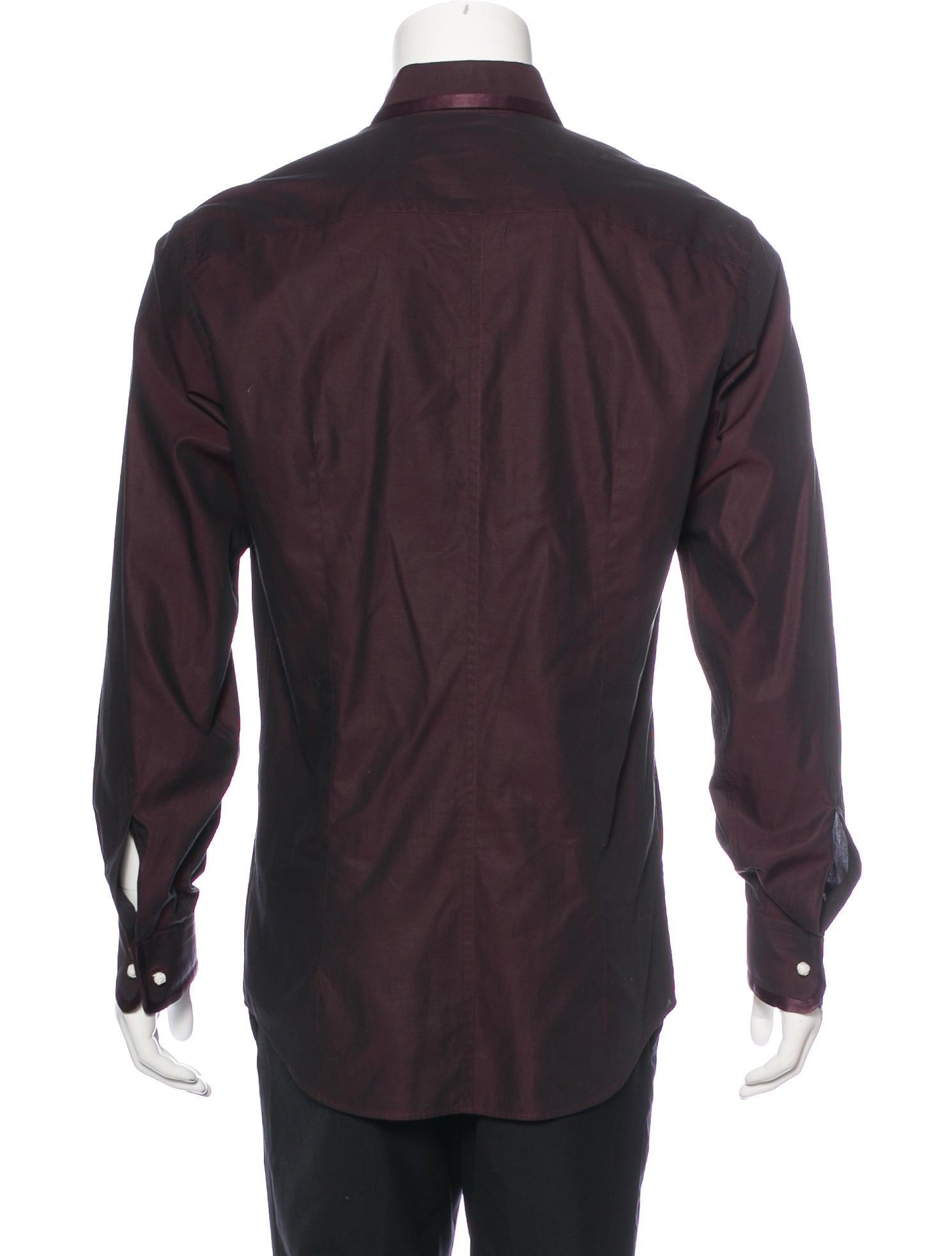 Dolce gabbana tailored fit dress shirt clothing for Tailored fit dress shirts