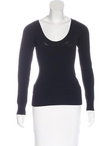 Dolce & Gabbana Wool-Blend Long Sleeve Sweater None
