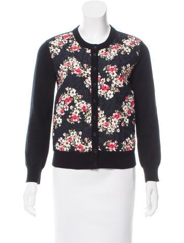 Dolce & Gabbana Floral Print Cashmere-Blend Cardigan None