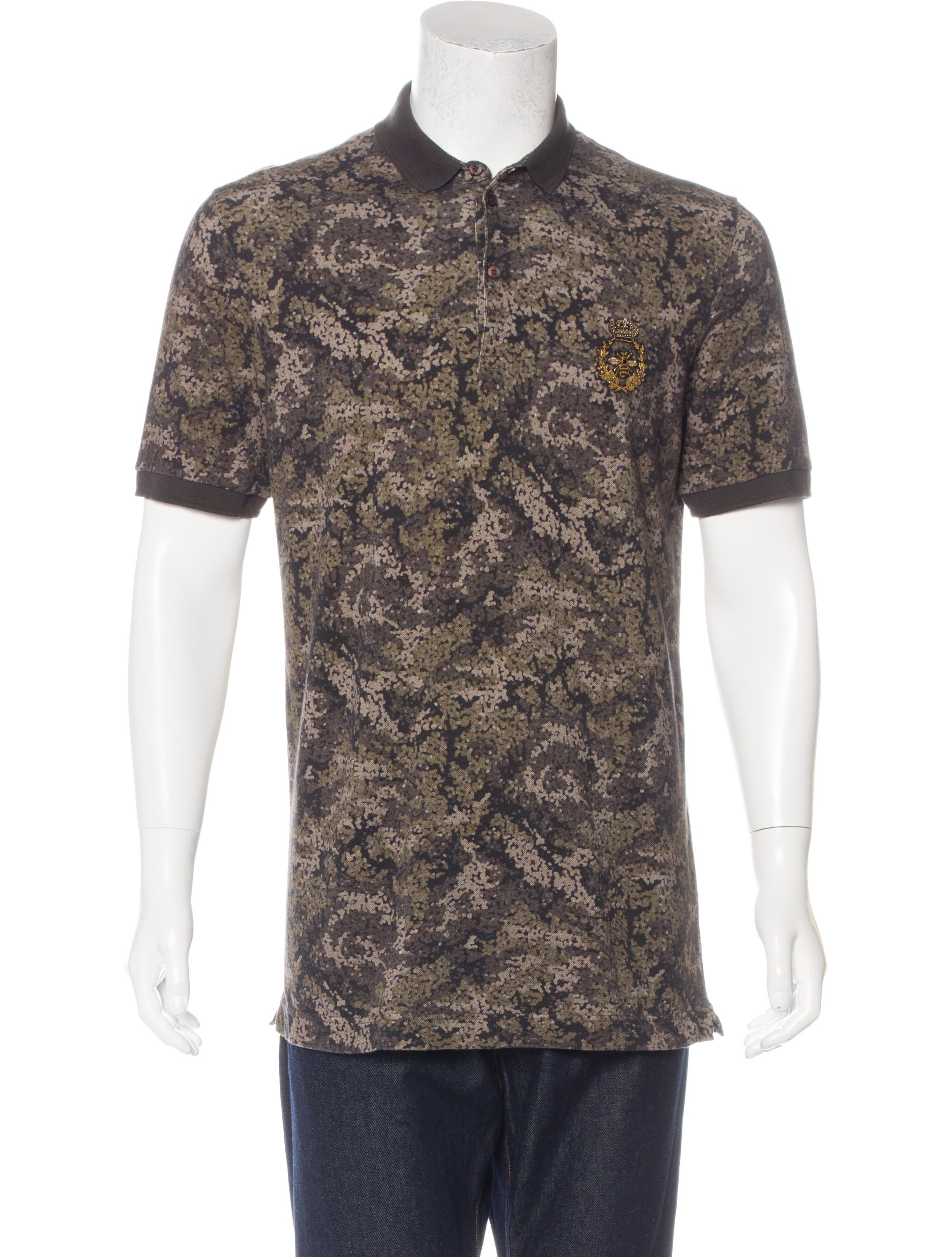 Dolce gabbana embroidered polo shirt clothing for Polo shirts with embroidery