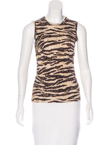 Dolce & Gabbana Printed Sleeveless Top None