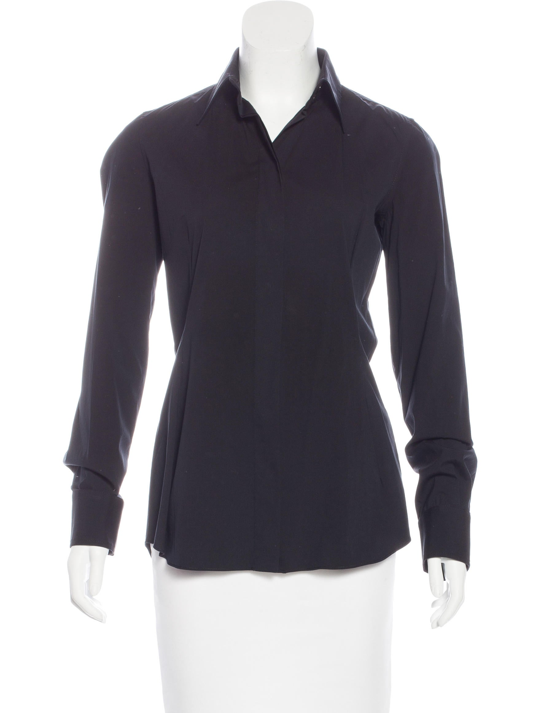 Dolce gabbana collared button up top clothing for Women s collared button up shirts