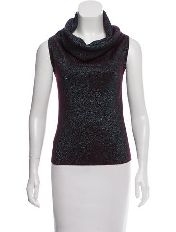 Dolce & Gabbana Iridescent Wool Top None