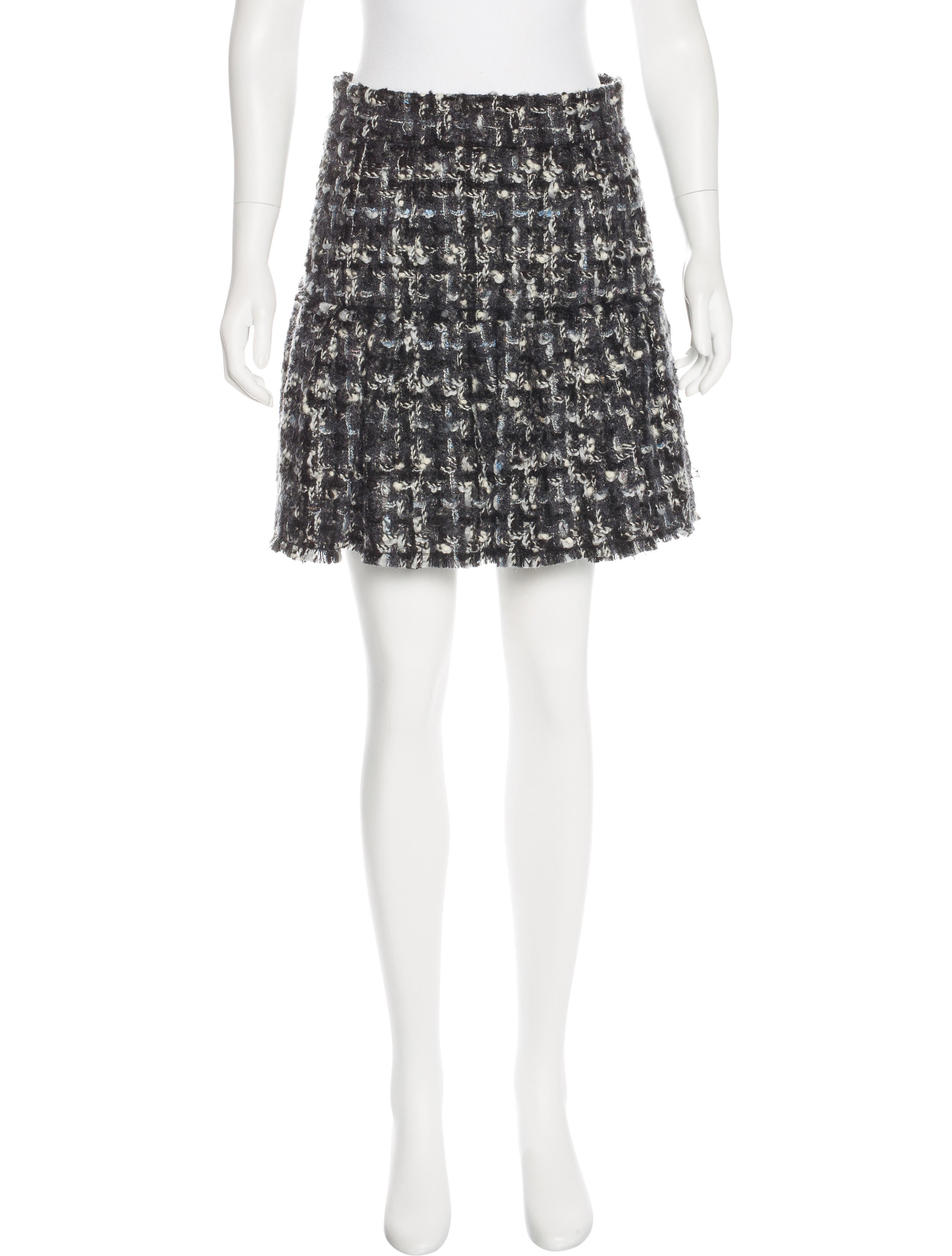 dolce gabbana pleated tweed skirt w tags clothing