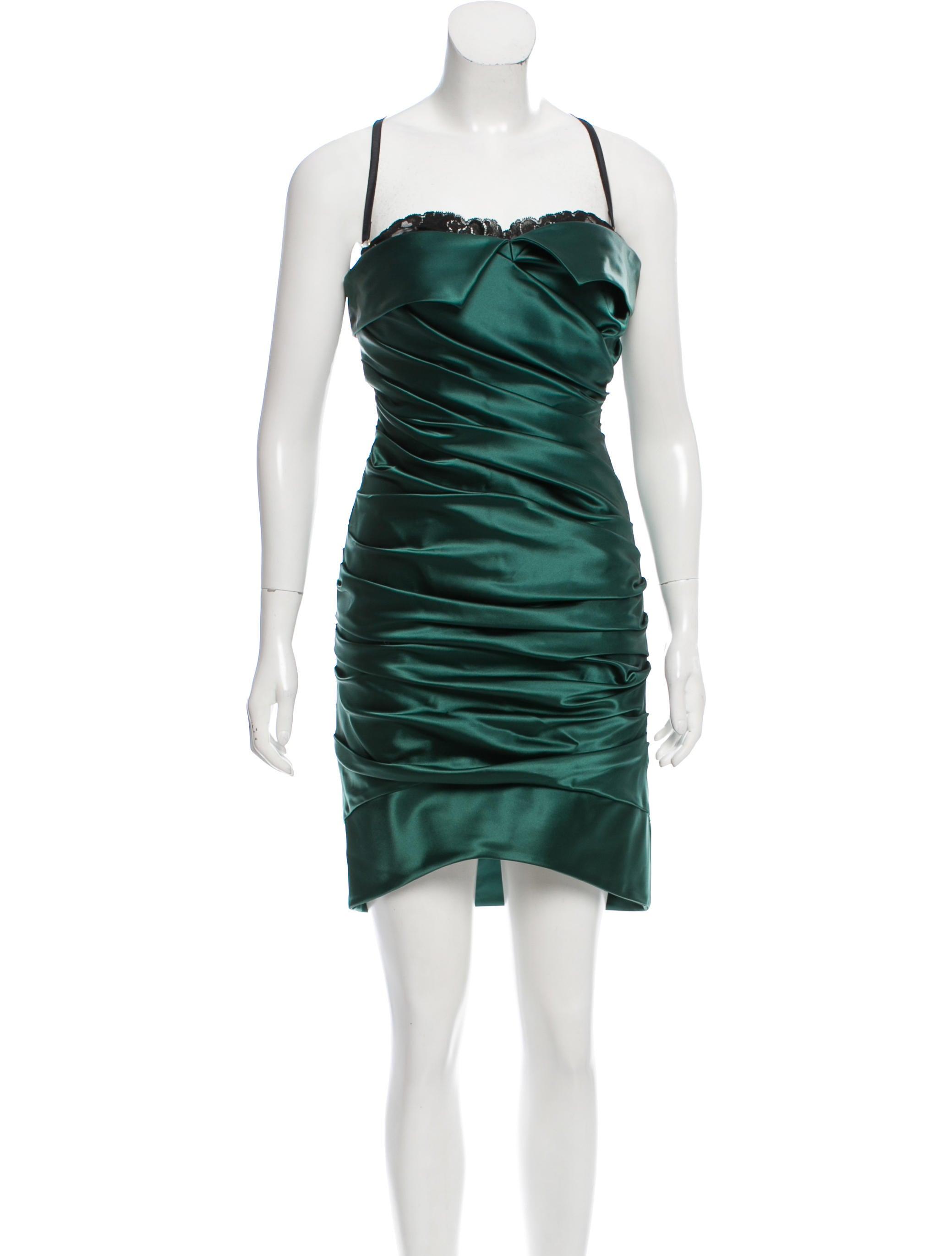 81f075d7c22 Dolce   Gabbana Satin Cocktail Dress - Clothing - DAG81384