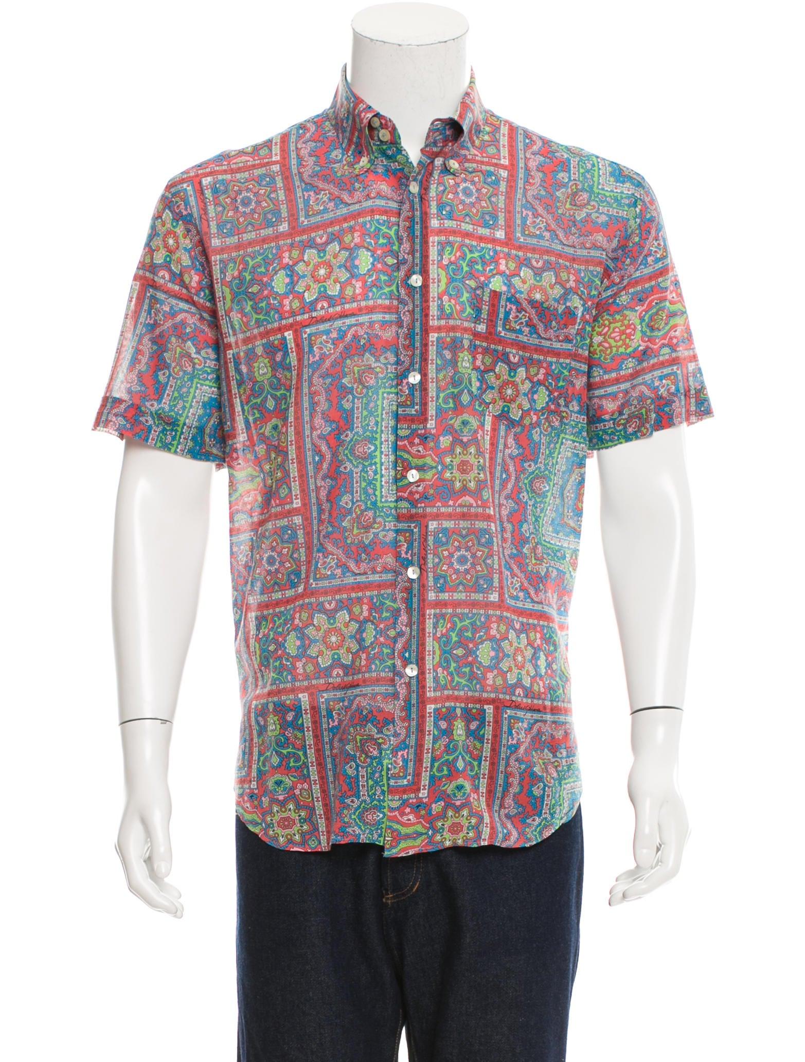 Dolce gabbana printed button up shirt clothing for Dolce and gabbana printed t shirts