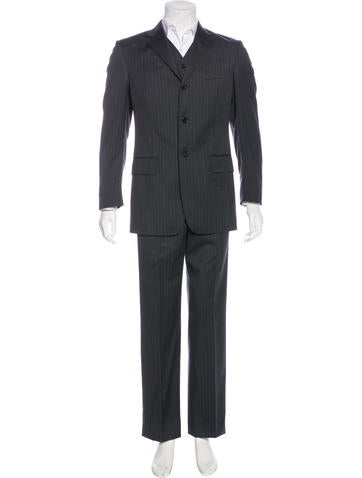 Dolce & Gabbana Wool Striped Suit None