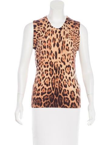 Dolce & Gabbana Leopard Print Top None