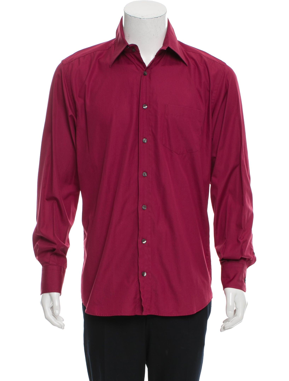 Dolce Gabbana Woven Button Up Shirt Clothing