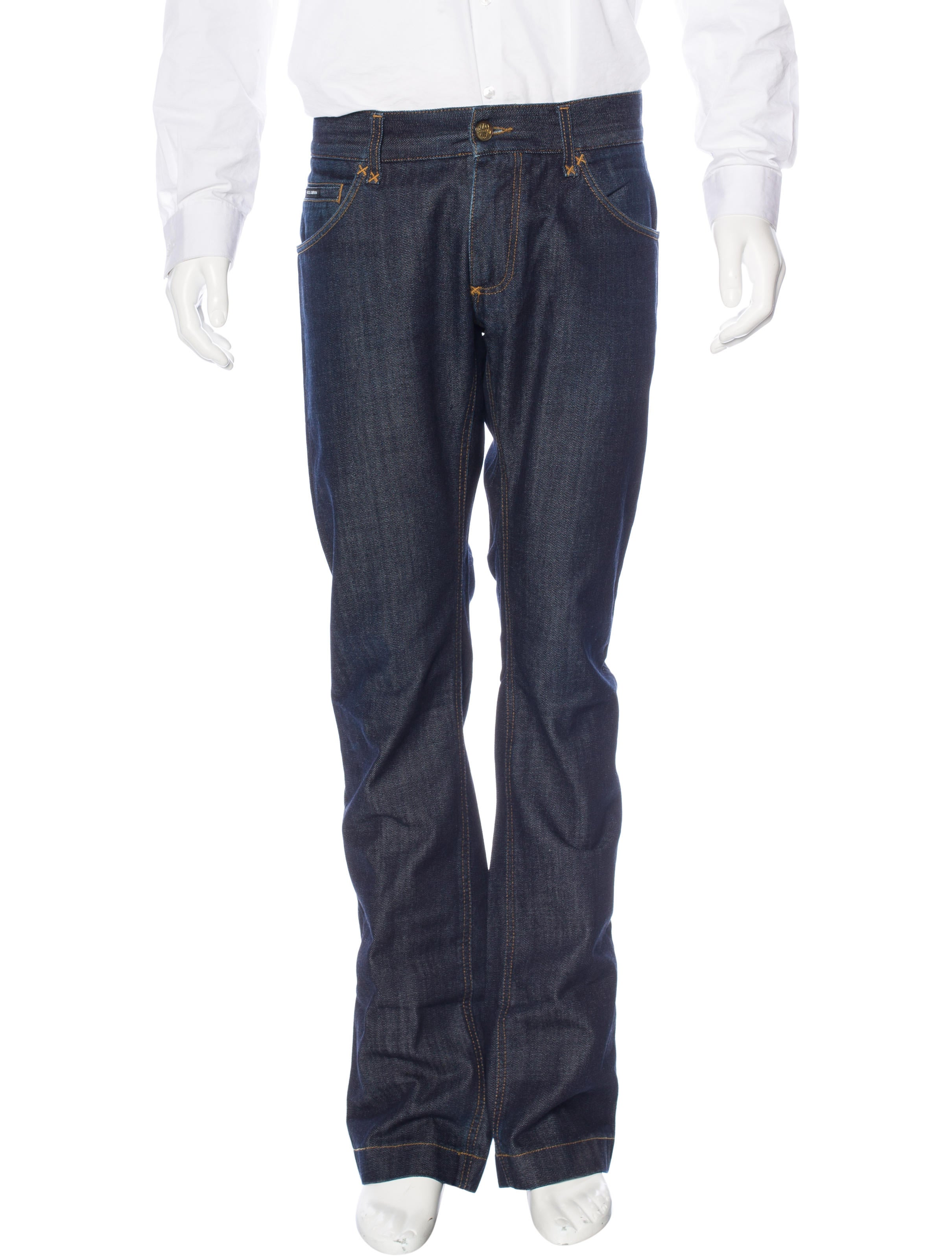 Dolce gabbana embroidered straight leg jeans clothing
